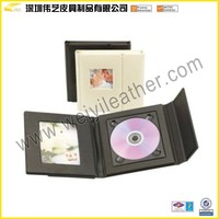 Elegant Fashion Hot Sale Top Quality Wholesale Personalized Leather Custom Album Storage Fancy Wedding CD Case