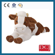 wholesale custom plush toy sleeping plush cattle plush toy animal
