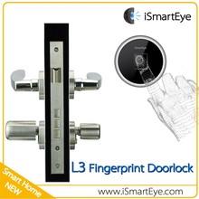 One Side Knob One Side Key Lock Cylinder Fingerprint Digital Door Lock