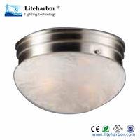 flush mount round fluorescent office ceiling light fixture