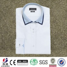 Preppy style double collar good looking shirt
