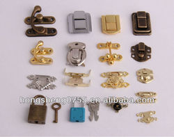 mini gift box lock small jewelry box latch fashion metal lock latch for wooden box