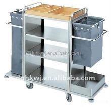Stainless Steel hotel housekeeping maid cart trolley