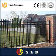 High security economic and useful decorative garden fence metal garden fence