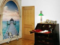 wholesale Eco-friendy 3d huge mural art road to sea for the bedroom sofas tv wallpaper murals wallpapers home