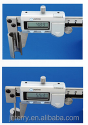 Electronic tube caliper 0-150mm 0-6'' measuring tube wall thickness, vernier caliper optional