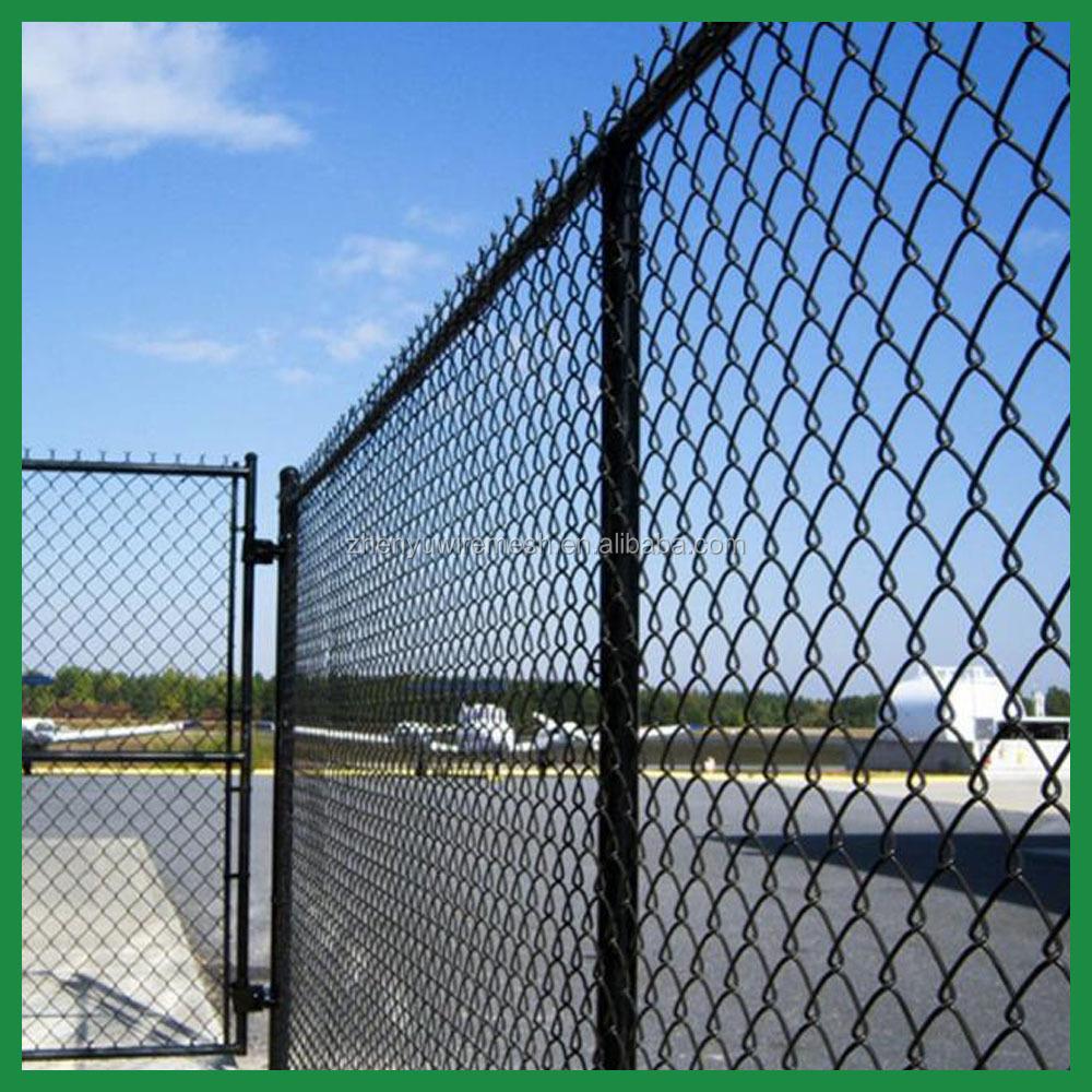 1-1/4\'\'/2 Inch 9 Gauge 6 Foot Used Black Vinyl Chain Link Fence Mesh ...