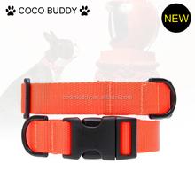 2015 hot new nylon dog products epoxy logo nylon dog collars private brand dog collars