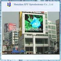 P8 outdoor full color double sided tv for advertising