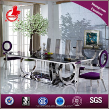 Latest Model A8068 square glass dining table