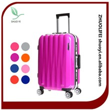 combination lock eminent cheap colorful hard shell decent travel luggage, travel luggage set