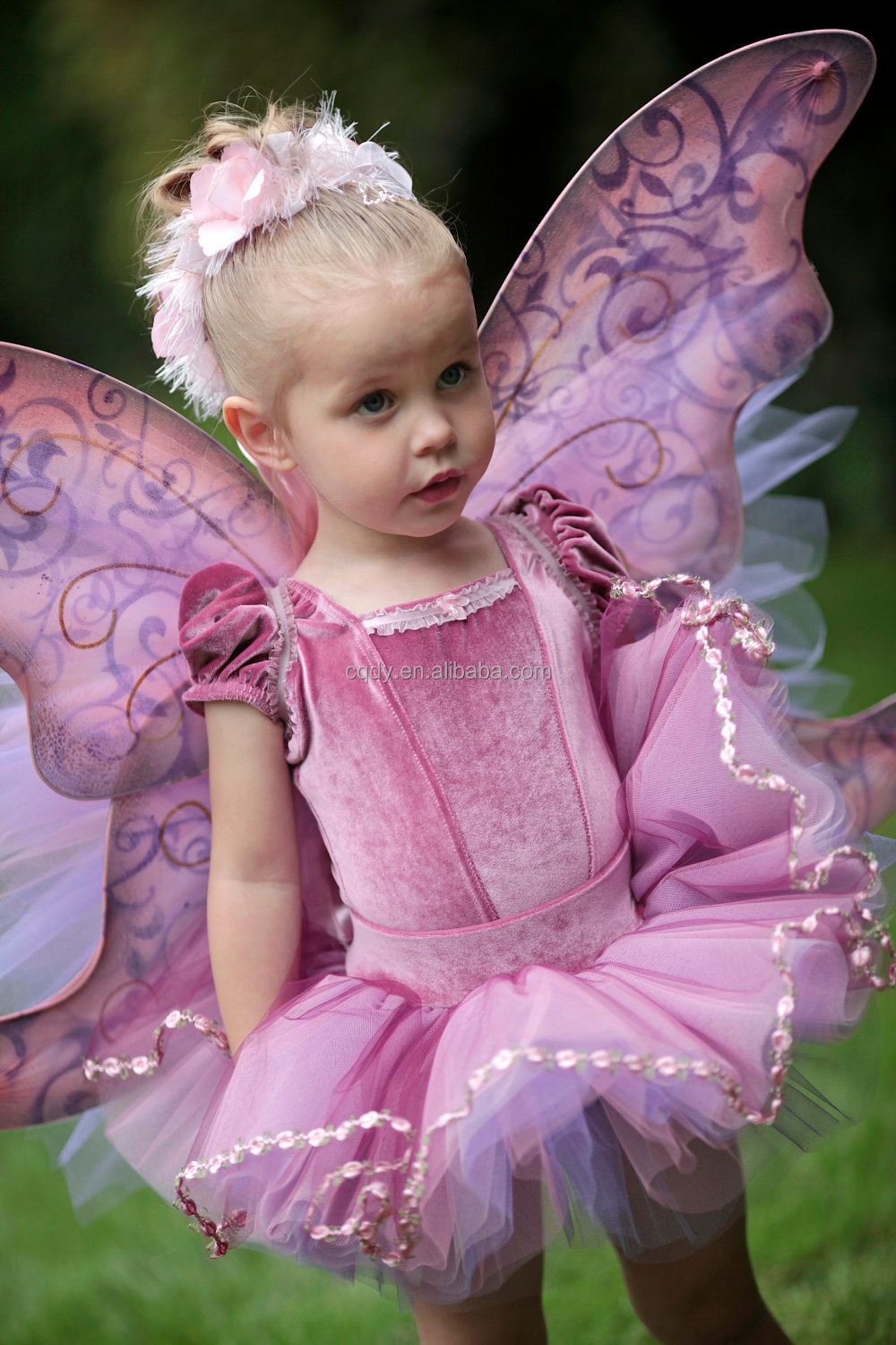 2014 High Quality Fairy Girl Dress With Butterfly Wings Dresses Of Party For Girls Of 8 Years