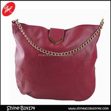 PU red shoulder bag/Guangzhou shoulder bag/bag with chain handle