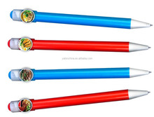 School Kids Office Colorful Cute Ball Pen with Clip for promotion/Personalized custom creative gift pen