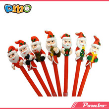 Latest Hot Selling!! Wholesale santa claus polymer clay pen christmas pen