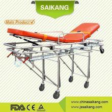 SKB039(C2) aluminum alloy folding hospital ambulance stretcher trolley