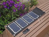 Foldable and Portable Solar Charger for MP4, USB devices