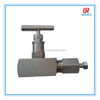 stainless steel forged instrument needle and vent valve in Roke Fluid