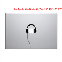 Beautiful Headphones Styling Vinyl Decal Sticr Skin for Apple Laptop for MacBook Air Pro 11 13 15 Computer Wall Decor