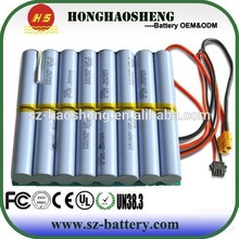 China supplier high quality 18650 lithium battery pack 2200mah 60v li ion rechargeable battery pack for golf cart