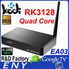 EA03 Rockchip 3128 android 4.4 fta hd receiver 1080p quad core tv box