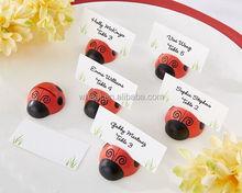 "Wedding Favors ""Cute as a Bug"" Ladybug Place Card/Photo Holder"