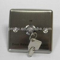 High Quality Stainless Steel Door Release Keyswitch Emergency Door Switch Button with Key