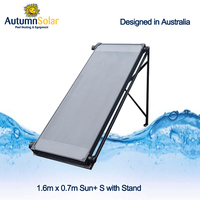 Swimming pool heat solar panel collector with individual tubes