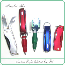 A Pen Multifunction LED Knife Pen With Light With Knife With Bottle Opener