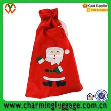 santa clause christmas gife bag, drawstring pouch, drawstring gift bag for festival