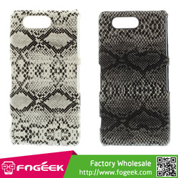 Brand New Snake Grain Leather Coated Hard Shell Case for Sony Xperia Z3 Compact D5803 M55w