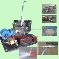 diesel hull cleaning machine high pressure rust paint remove sandblaster