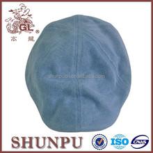 Cotton blue beret hat pattern newsboy beret cabbie hat