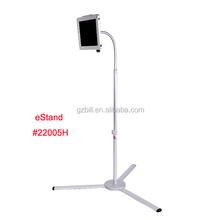 tripod floor bracket for iPad/ security metal case/ lock display kiosk holder/ tablet aluminum rotatable stand eStand