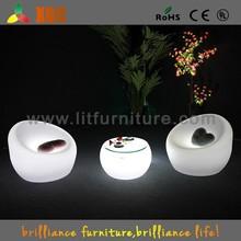 Color changeable led sofa furniture, illuminated led sofa, plastic led sofa