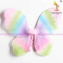 Multicolor kids halloween butterfly fairy wings magic wind accessory