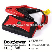 upower waterproof 2 in 1 jump start/air compressor with 4 usb output and compass