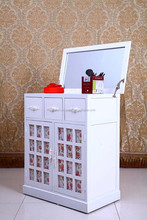 White rural style solid wood mini multi-function contracted fashion hotel small bedroom dresser