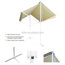 Outdoor double canopy umbrella car sunshade awning double shades awning freestanding manual assembled awning
