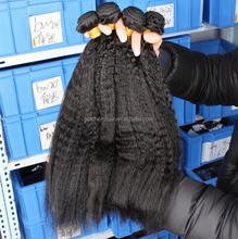 Brazilian Virgin Hair Kinky Straight 3-5 Pieces/Lot Human Hair Weaves Kinky Straight Natural Black Kinky Straight Hair