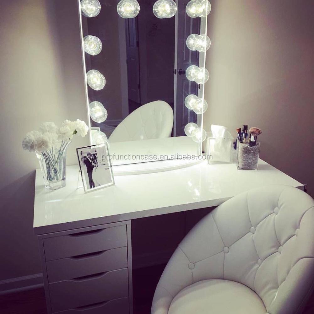 2016 meilleur usa de courtoisie clair miroir avec led ampoules australien de maquillage. Black Bedroom Furniture Sets. Home Design Ideas