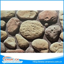 High strength thickness 30mm garden pebble natural culture stone decoration