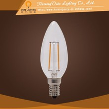Super long lifetime C35 candle led filament lamp