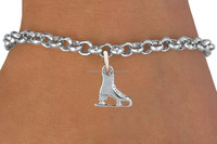 Top Selling Custom Metal Silver Tone Roller Skate shoes Charm Bracelet Made In China