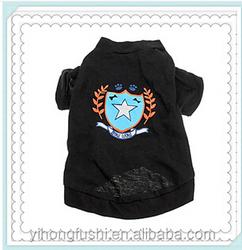 Pet clothes dog clothes cotton black pet large t shirt