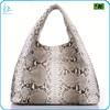 High quality genuine python leather handbag, real python skin bag hobo bag