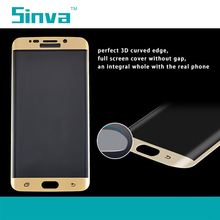 9H hardness Explosion Proof Colorful Full Cover Tempered Glass Screen Guard for Samsung galaxy S6 Edge Plus