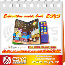 English and Spanish language Child's early education music book