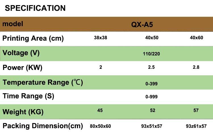 Imprensa do Calor do Sublimation QX-A5 Balanço Plana 38x38 cm Vinil Tshirt Máquina de Transferência de Impressão