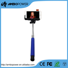 Hand held monopod wholese selfie stick with protable wireless monopod bluetooth seldie stick